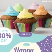 蛋糕店会员生日折扣psd海报