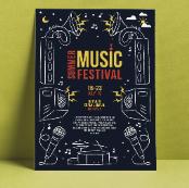 音乐节创意海报psd格式