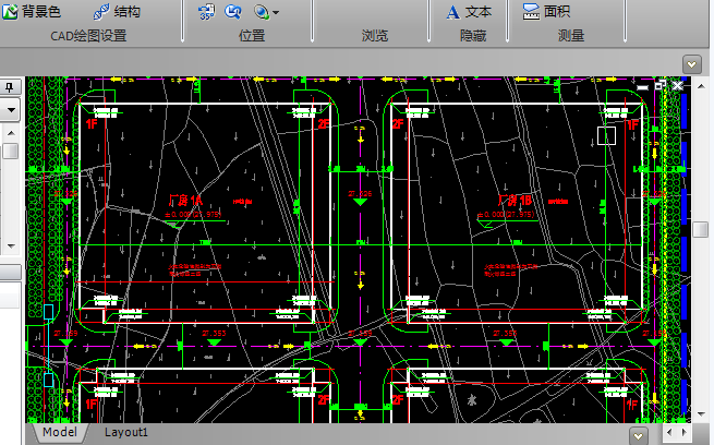 现代风格厂区办公楼地块规划CAD施工图纸截图0