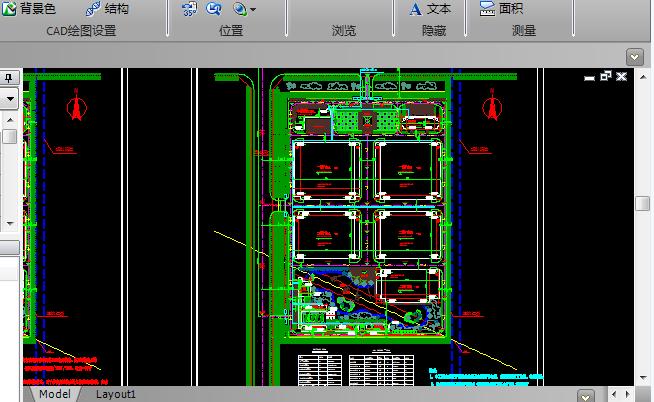 现代风格厂区办公楼地块规划CAD施工图纸截图1