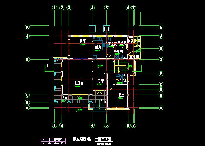 独立风格A与B型别墅CAD施工设计图截图0
