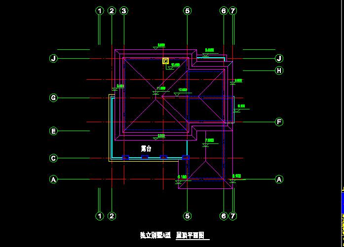 独立风格A与B型别墅CAD施工设计图截图1