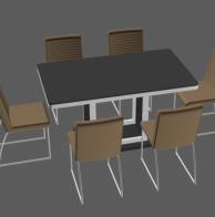 现代桌椅3d模型