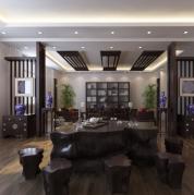中国风茶室会客室3D模型