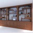 复古木式酒柜3D模型