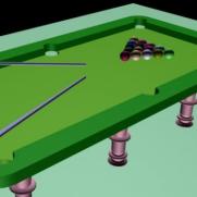 台球桌球杆3D模型