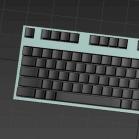 电脑键盘3d模型