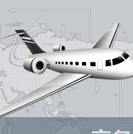 飞机与世界时间商务出行PPT
