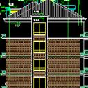 多层别墅建筑CAD施工图纸