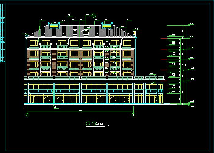 多层别墅建筑CAD施工图纸截图0