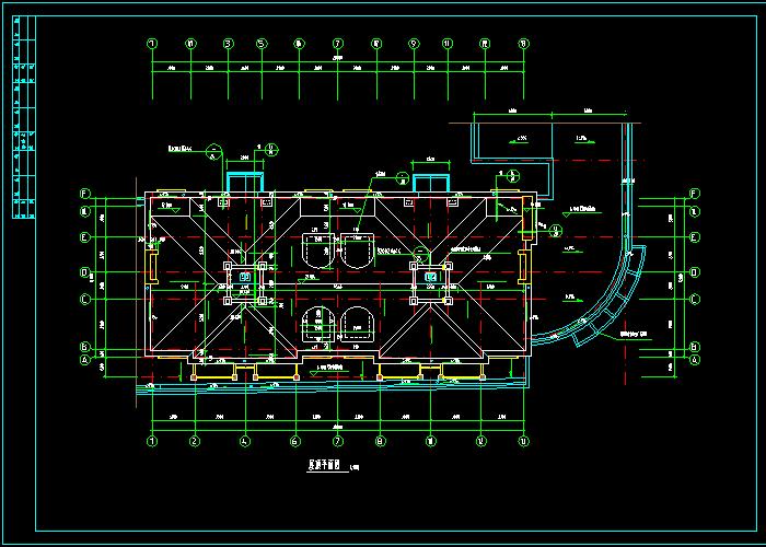 多层别墅建筑CAD施工图纸截图1