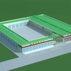 物流批发中心3d模型