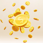 金币背景金融投资理财PPT模板