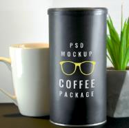 咖啡包装盒PSD素材下载