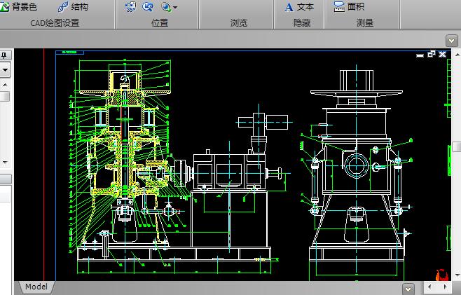 立式卷取机CAD机械图纸截图0