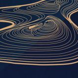 精致曲线深色中国风PPT模板