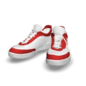 白红运动鞋3d模型下载