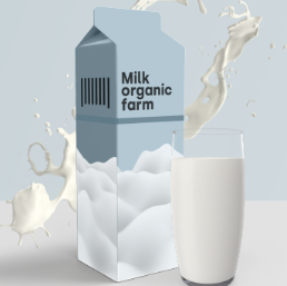 牛奶包装psd素材