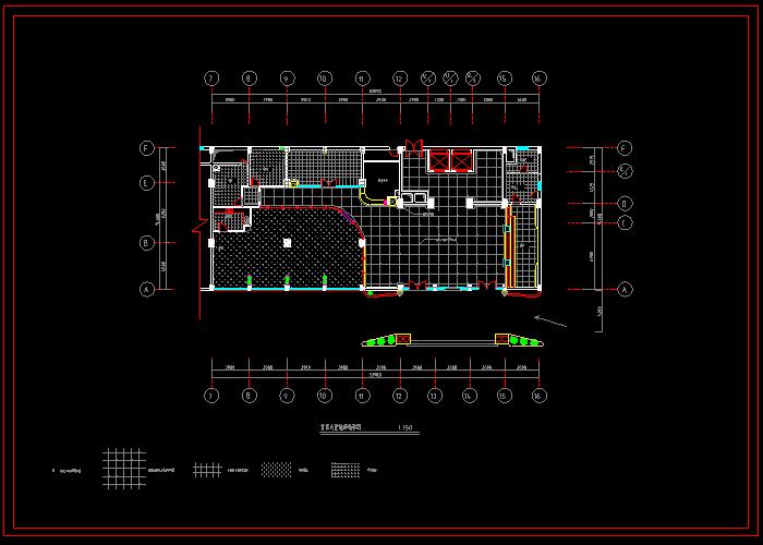 某大型宾馆装饰CAD设计图截图0