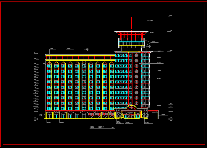 某大型宾馆装饰CAD设计图截图1