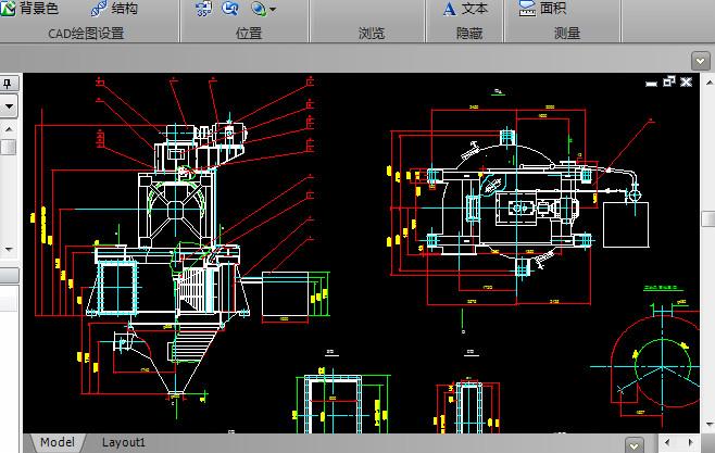 分级机CAD机械图纸截图0