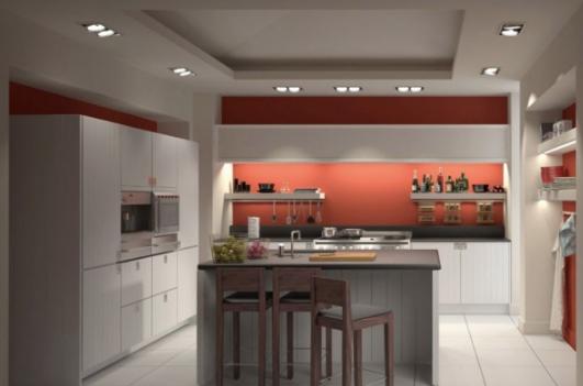 开放式厨房3d模型截图0