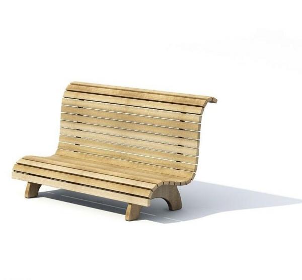 户外休闲座椅3D模型截图0