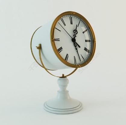 复古闹钟3D模型截图0