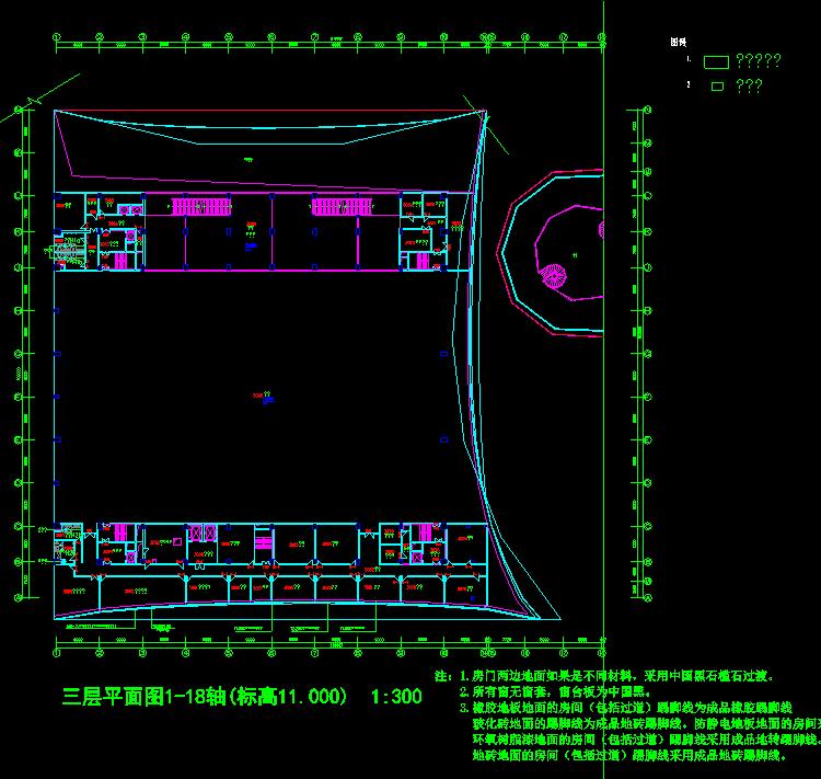 体育会展中心装饰CAD施工图截图0