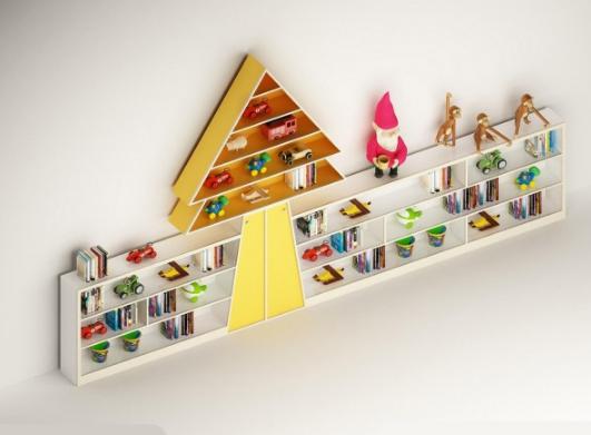 儿童书架3d模型截图0
