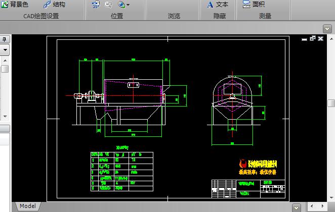 滚筒式筛砂机CAD图纸截图0