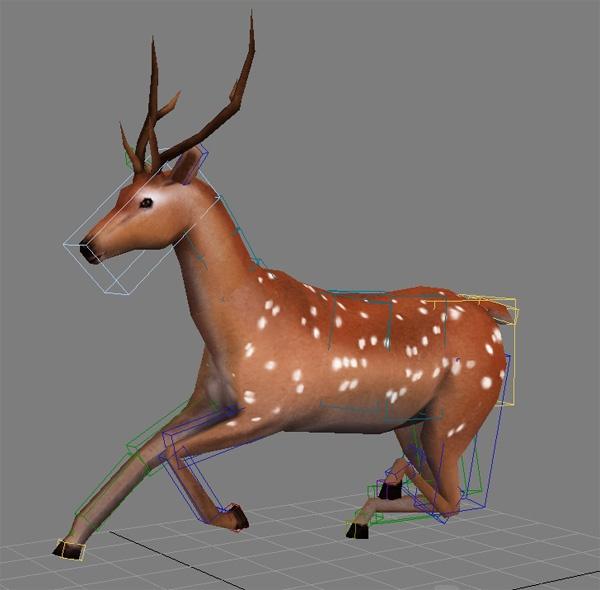 梅花鹿3D模型截图0