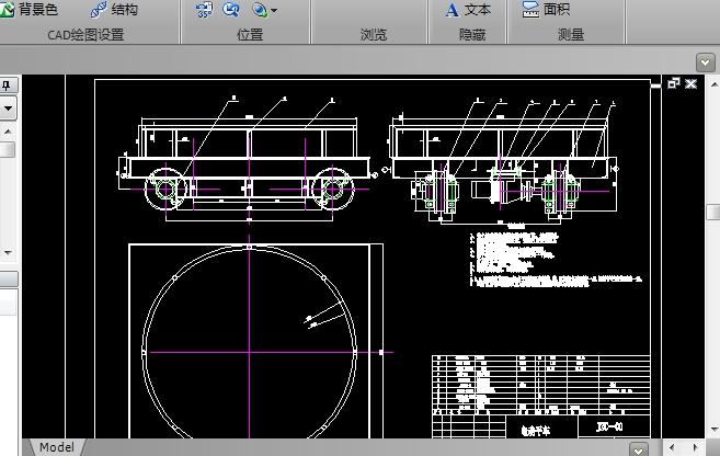 电动平车CAD机械图纸截图0