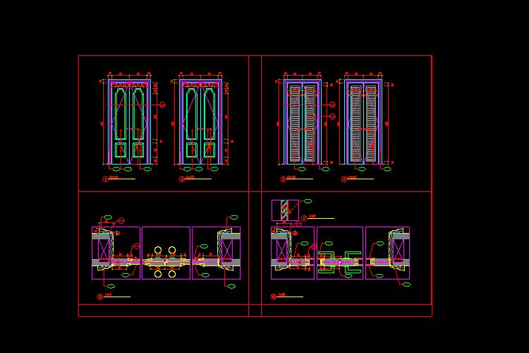 门拉手大样设计CAD施工图截图0