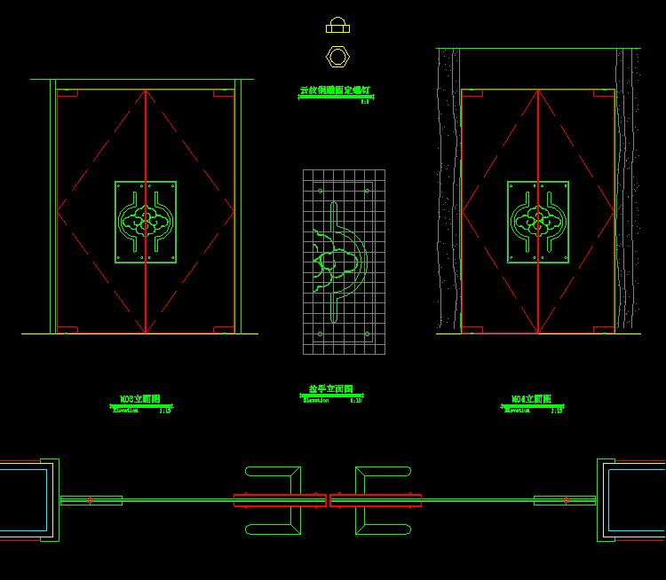 室内设计实木门cad图纸下载截图1