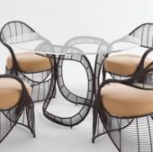 藤编桌椅3d模型