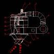 双转子式高效选粉机CAD机械图纸