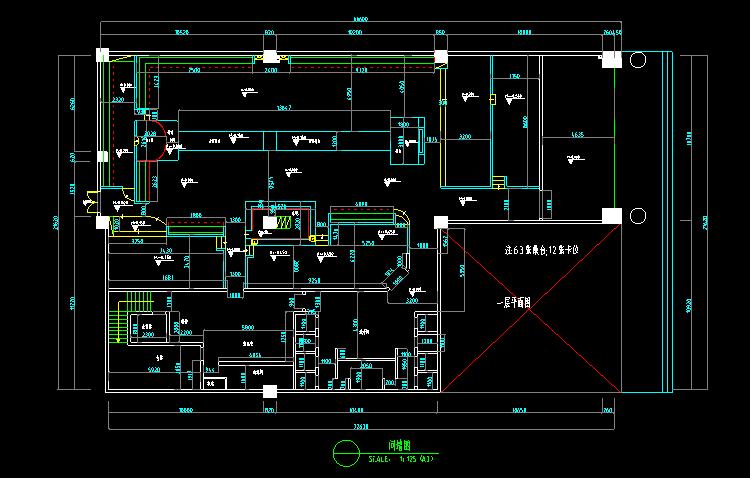 酒吧服装店理发店生活馆CAD施工图截图1