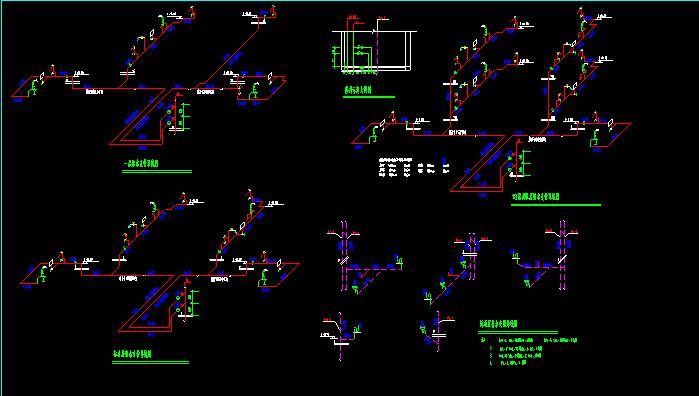 小区整栋楼给排水CAD图纸截图1