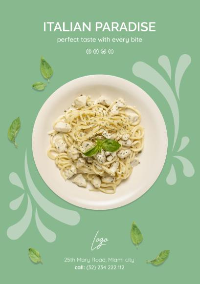意大利美食宣传PSD
