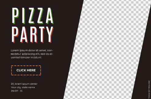 披萨美食海报psd