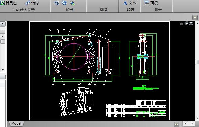 制动器CAD机械图纸截图0