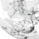 欧美风简约点线星球背景PPT模板