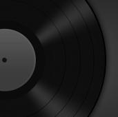 黑色音乐唱片音乐ppt模板