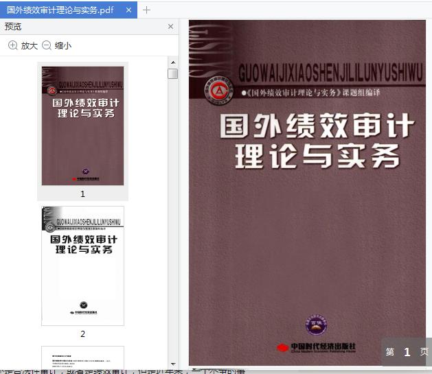 国外绩效审计理论与实务pdf免费阅读截图0
